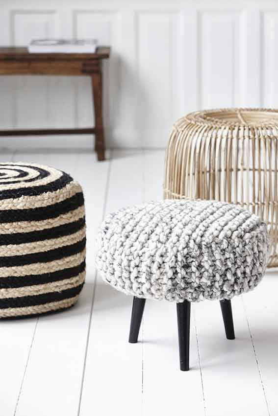 House Doctor pouffes.