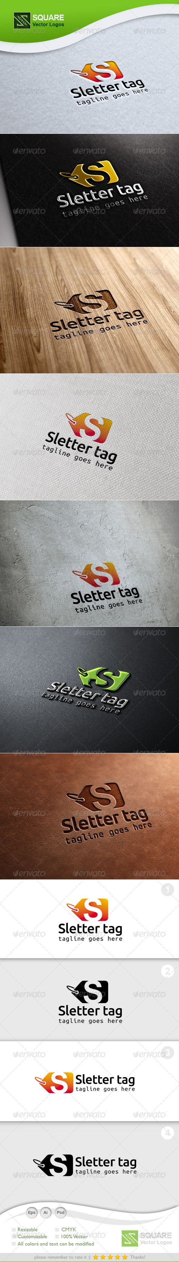 S, Tag Vector Logo Template — Photoshop PSD #design #badges • Available here → https://graphicriver.net/item/s-tag-vector-logo-template/6789567?ref=pxcr