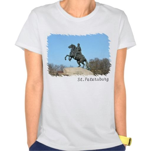 Bronze Horseman T-shirt. Equestrian statue of Peter the Great in Saint Petersburg, Russia also known as Bronze Horseman