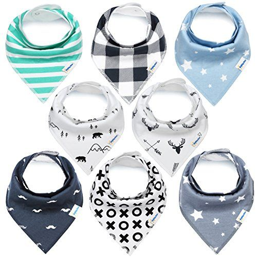KiddyStar Bandana Baby Bib Set, 8-Pack Drool Bibs for Boys and Girls, Baby Shower Gift for Newborns, 100% Organic Cotton, Soft and Absorbent, Stylish and Unisex, For Drooling and Teething. For product info go to: https://all4babies.co.business/kiddystar-bandana-baby-bib-set-8-pack-drool-bibs-for-boys-and-girls-baby-shower-gift-for-newborns-100-organic-cotton-soft-and-absorbent-stylish-and-unisex-for-drooling-and-teething/