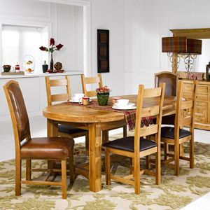 Guarda Oval Extending Dining Table