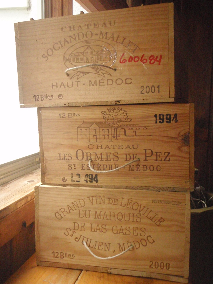 Use Mom's wine crates to prop buffet table