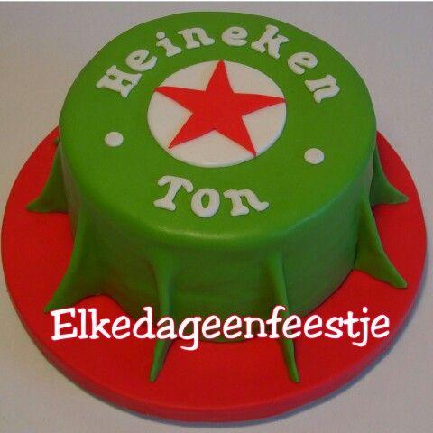 Heineken taart gemaakt door Elkedageenfeestje. https://m.facebook.com/elkedageenfeestje