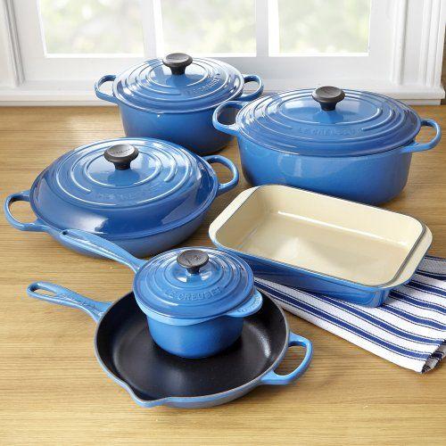 Le Creuset Enameled Cast Iron Cookware Set, 10 Pieces: Marseille
