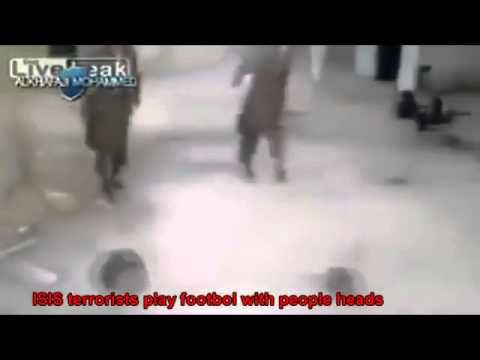 War in IRAQ & Syria 2014 Footbol with people heads