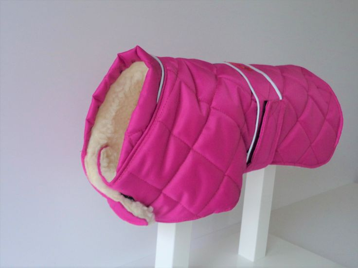 Our Quilted Coat With Reflective Piping and Sherpa Fleece Lining,Available in 4 Colours ,Cerise Pink,Chocolate,Navy,Purple,Standard Sizes or Made to Measure at no Extra Cost