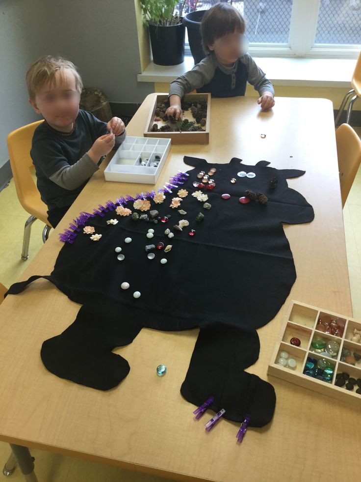 Gruffalo and loose parts at The Sunflower School in Orangeville Ontario