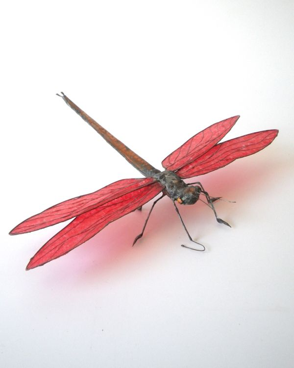 Red Dragon Fly - NZ made - Object Art