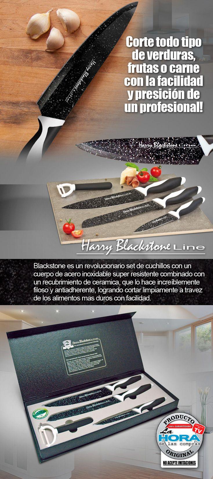 Los cuchillos de la serie Harry Blackstone Line afiladas ofrecen un rendimiento de corte profesional.