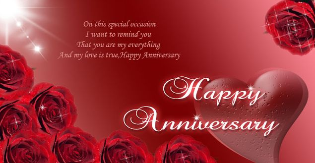 Happy wedding anniversary cards for marriage anniversary