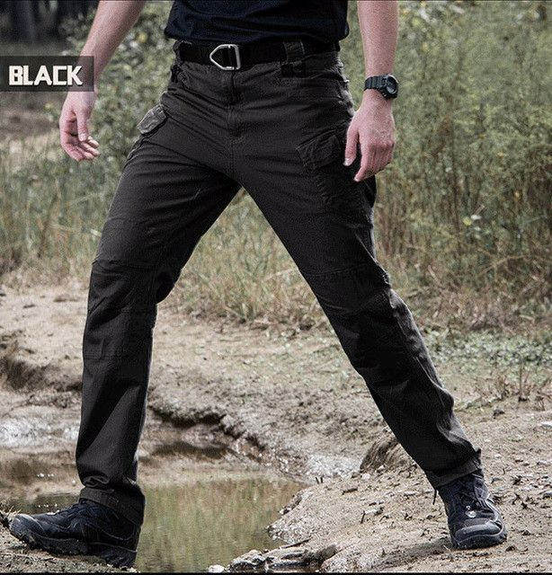 IX7 Gear Military Urban Tactical Pants Men Spring Cotton SWAT Army Cargo Pants Casual EDC Pockets Police Soldier Combat Trousers