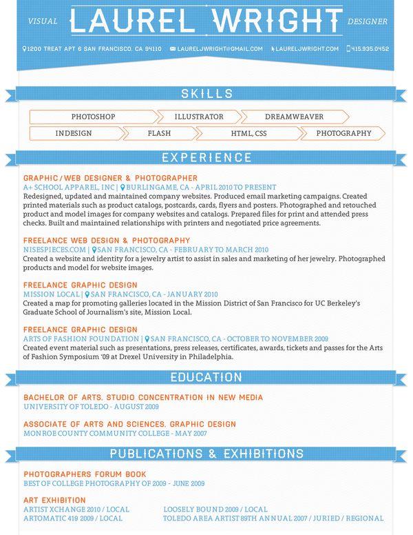 10 best Design Resumes images on Pinterest Architecture, Career - graphic design resume tips