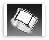Sterling Silver Napkin Ring - Round - Made in Italy $137.50