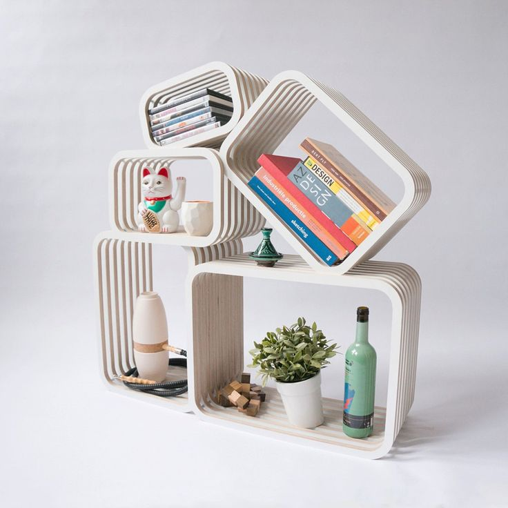 Parallel shelving furniture - multi functional - custom shelving - modern - bookshelf - bookcase - box - room divider - open wall furniture. Take a look on Framestr for more products from Studio Lorier and other similar vendors.