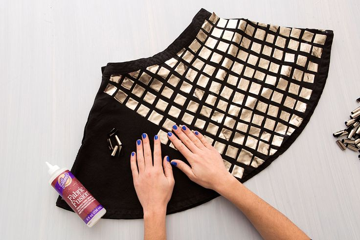 You only need a few materials to DIY this sparkly disco ball skirt.