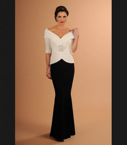 Black And White Evening Gowns Plus Size