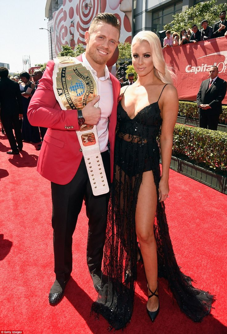 He came to play: WWE Superstar Mike 'The Miz' Mizanin was joined by his gorgeous wife Maryse Ouellet