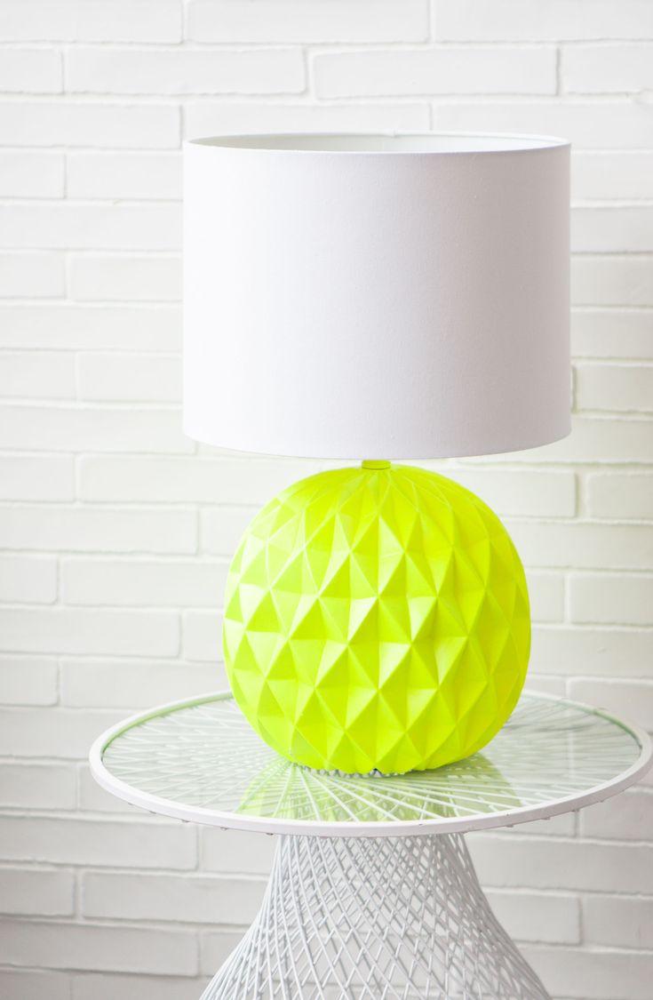 .: zara home amazing neon and white pineapple inspired lamp :.