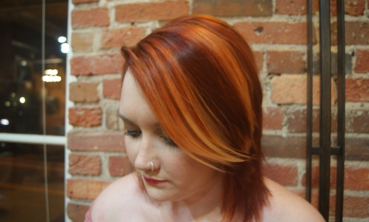 Edgy orange accents by Ashleigh at Posh the Salon