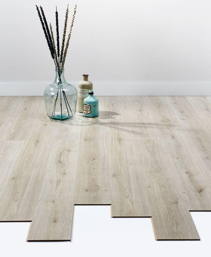 Sfeervolle vloer laminaat willows grijs eiken - Deco toilet grijs ...