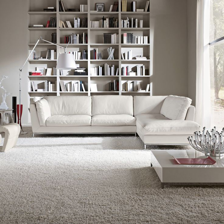 Day Italian Modern Corner Sofa in white leather. Corner Sofas  a collection of Home d cor ideas to try   Click