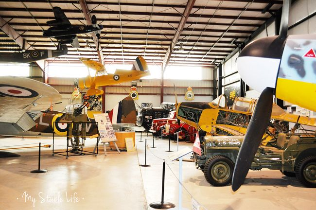 Places to visit in Alberta with kids. Lancaster Air Museum, Nanton, AB. My Stable Life (blog) by Jenn Webster.