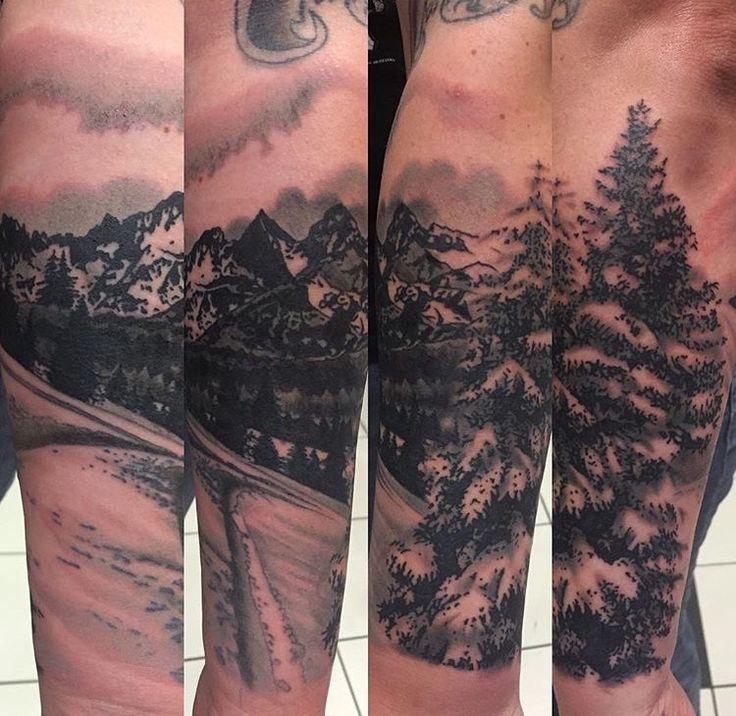 Oltre 25 fantastiche idee su paesaggio tattoo su pinterest for Blue ridge mountain tattoo