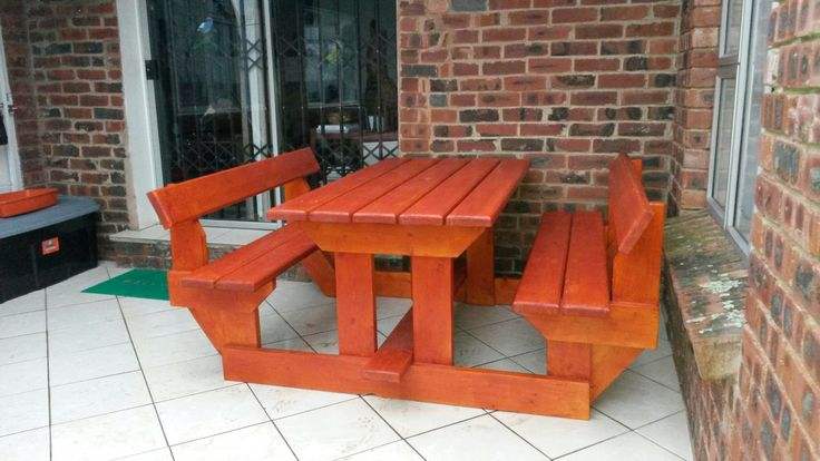 Another amazing variation of a table and bench from Busy Wood. Contact Hendrik on 072 635 6050