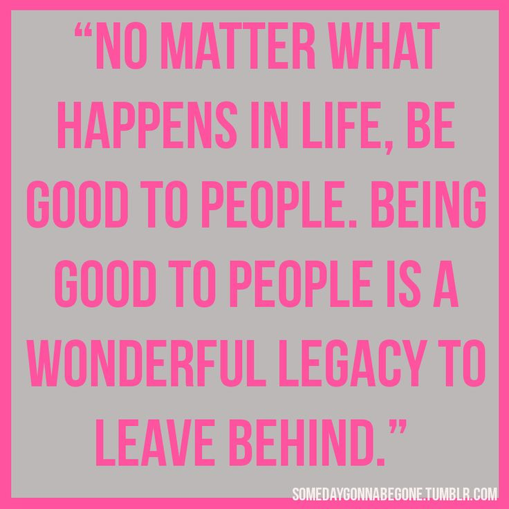 No matter what happens in life ...