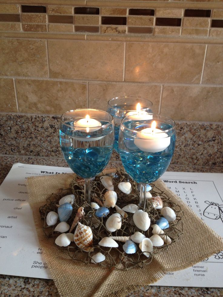 Best beach centerpieces ideas only on pinterest