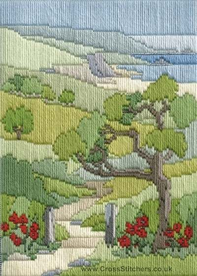 Summer Walk Long Stitch Kit from Derwentwater Designs from the range 'Seasons in Long Stitch' designed by Rose Swalwell.