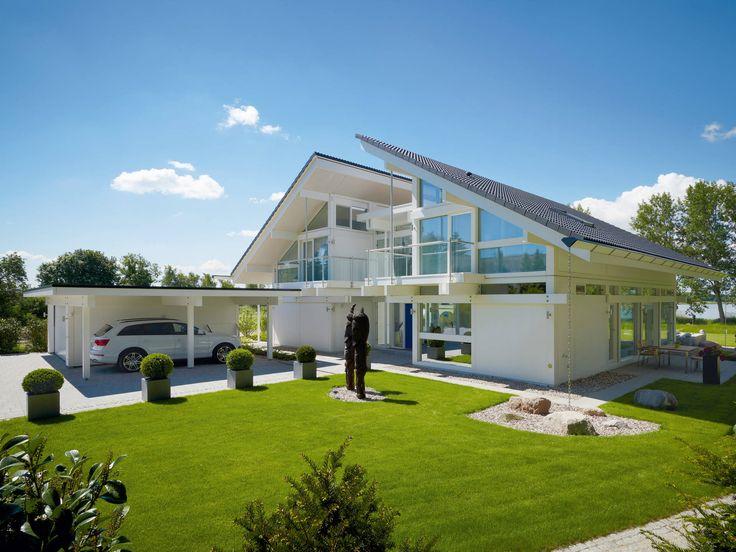 26 besten designerhaus bilder auf pinterest moderne for Musterhaus flachdach