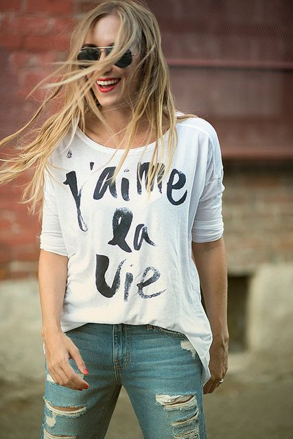 Pair your #sevenly tee with distressed jeans and voila! :)