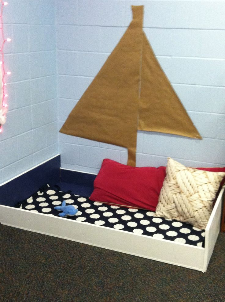 Nautical Theme Classroom: Reading boat!