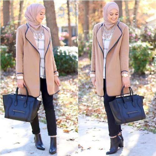 leena camel coat hijab, Elegant hijab street style http://www.justtrendygirls.com/elegant-hijab-street-styles/