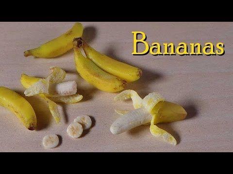 Bananas ~Miniature Polymer Clay Tutorial