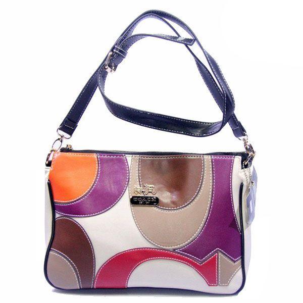 #ValueSpree Find fashion styles of Coach Poppy Op Art Medium Black White Crossbody Bags DXK. $61.99