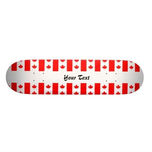 Canadian flag pattern skateboard