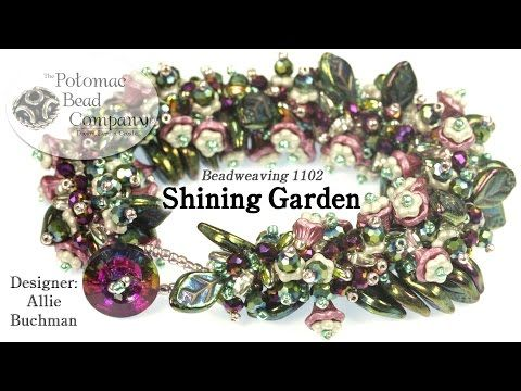Shining Garden Bracelet (Tutorial) - YouTube, all supplies from Potomac Bead Company (www.potomacbeads.com)