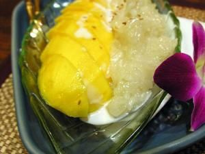 Recette Riz gluant à la mangue Mamuang kao nieo