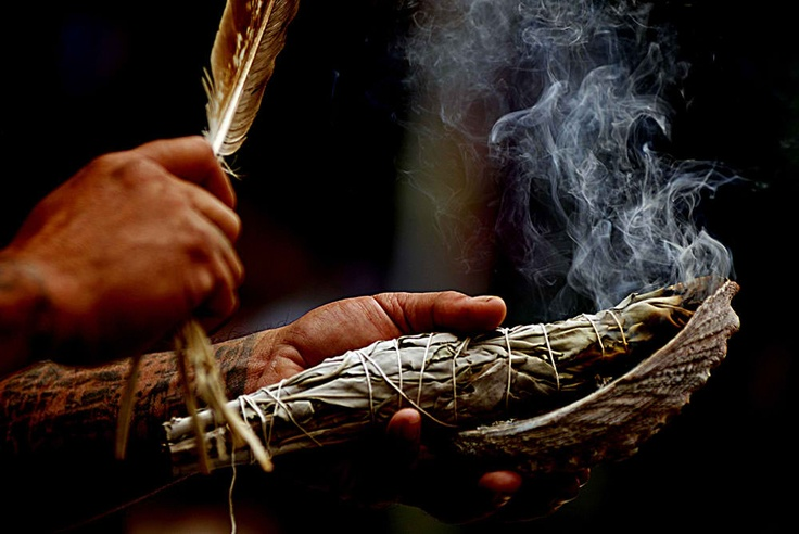before a ceremony, or prayer to our creator native americans smudge themselves with a bundle of sage to purify themselves.