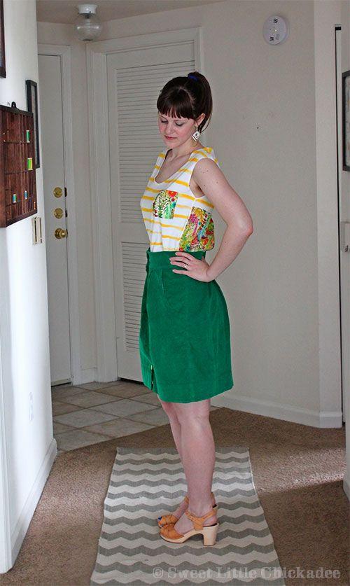 Green Kelly Skirt & Breton-esque Briar