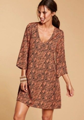Rozšírené šaty s potlačou #dress #boho #modino_sk #modino_style