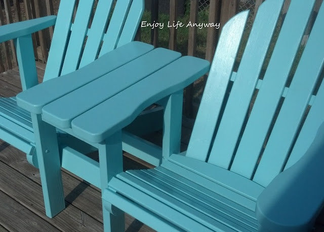 DIY adirondack chairs and table w/ plans info