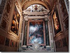 The preserved chapel with the works by Caravaggio and Caracci in Rome's Santa Maria del Popolo
