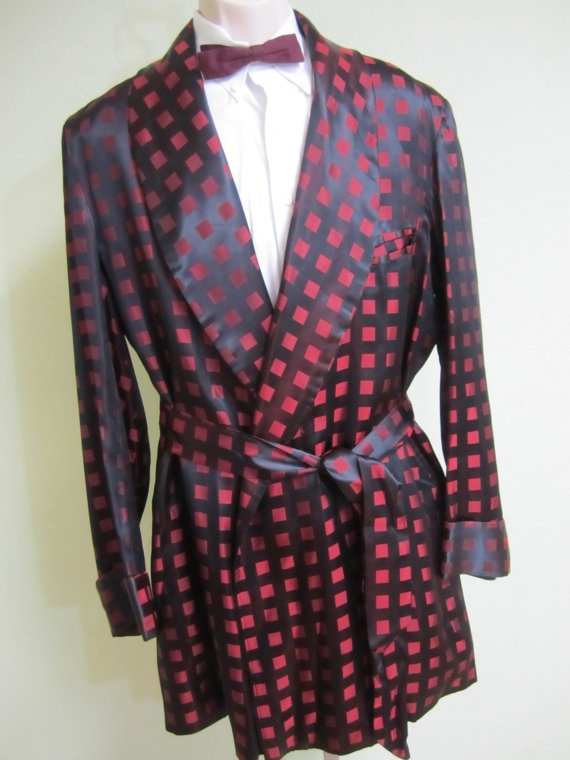 Vintage Mens Smoking Jacket Silk smoking by VintageWearTreasures, $170.00 SOLD:)
