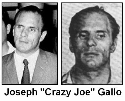 """Joseph Gallo (April 7, 1929 – April 7, 1972), also known as """"Crazy Joe"""" and """"Joe the Blond"""", was a celebrated New York City gangster for the Profaci crime family, later known as the Colombo crime family. Gallo initiated one of the bloodiest mob conflicts since the 1931 Castellammarese War and was murdered as a result of it."""