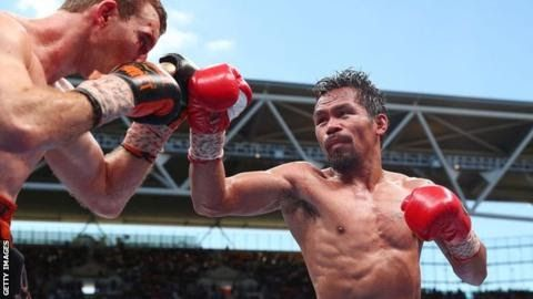 """Manny Pacquiao has won eight weight division titles in a 22-year pro career  Former  champion Manny Pacquiao has pulled out of a welterweight rematch with  Australian Jeff Horn who stunned the boxing world with victory in July.  The Filipino fighter 38 is said to have """"other commitments"""" at the time of the rescheduled bout on 12 November. Horn a 29-year-old former schoolteacher was given a unanimous 12-round decision in Brisbane. The World Boxing Organization reviewed the result with a new…"""