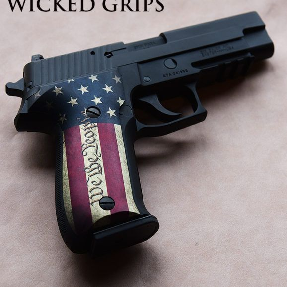 SIG 226 CUSTOM GRIPS RWB WE THE PEOPLE 2