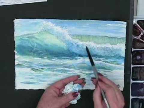Techniques for Painting Ocean Waves in Watercolor with Susie Short